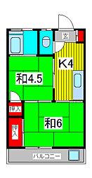 小川コーポ[2階]の間取り
