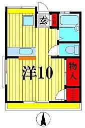コーポヤマ[2階]の間取り