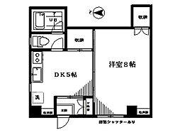 京王線 初台駅 徒歩3分の賃貸マンション 1階1DKの間取り