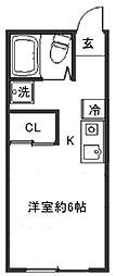 青葉荘[306号室]の間取り