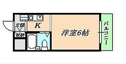 シャトー白蘭[4階]の間取り
