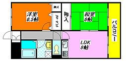 イーストヒル・長田 502号室[5階]の間取り