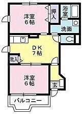 サンヒルズ千代田3[1階]の間取り