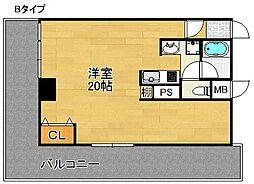 スターマンション[4階]の間取り