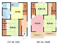 [一戸建] 埼玉県さいたま市南区太田窪5丁目 の賃貸【/】の間取り