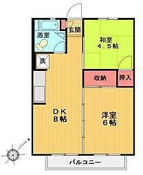 サンホワイトC105[23号室号室]の間取り