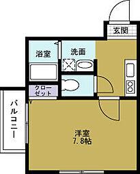 アンソレイエ[3階]の間取り