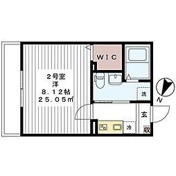 ハレマイレ・北習志野[202号室]の間取り
