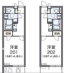 クレイノアイリス鶴ヶ峰[2階]の間取り