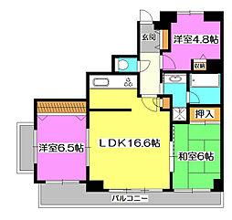 エステスクエア新所沢[4階]の間取り