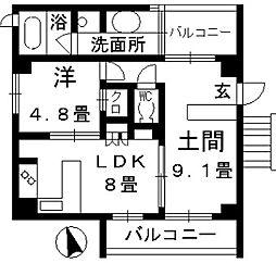 パークホームズ覚王山WEST[2階]の間取り