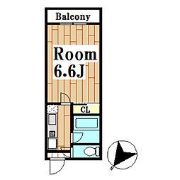 INGマンション[303号室]の間取り