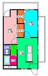 千葉県八街市八街ほの賃貸マンションの間取り
