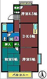 千葉県船橋市習志野1丁目の賃貸アパートの間取り