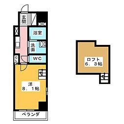 Gstyle栄東[4階]の間取り