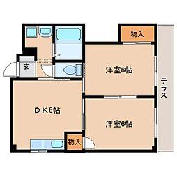 奈良県奈良市学園朝日元町1丁目の賃貸マンションの間取り