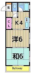 安藤コーポ[3階]の間取り