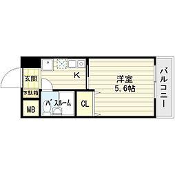泉佐野TBKビル[4階]の間取り