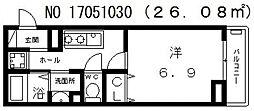 大阪府大阪市西成区天神ノ森1丁目の賃貸アパートの間取り