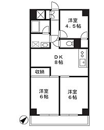 市ヶ尾センタービル[2階]の間取り