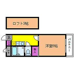 パインズ三津屋[1階]の間取り