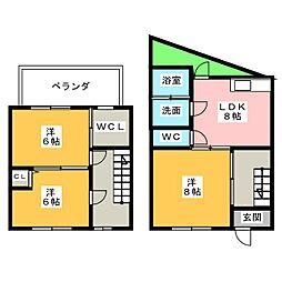 [一戸建] 愛知県名古屋市中村区角割町2丁目 の賃貸【/】の間取り
