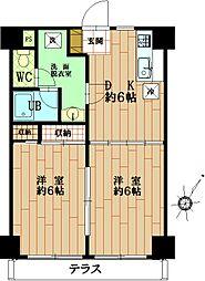レジデンシア国分寺[1階]の間取り
