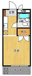 エステート高円寺[302号室]の間取り