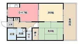 コンフォート北沢[1階]の間取り