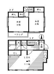 [一戸建] 神奈川県相模原市緑区向原1丁目 の賃貸【/】の間取り