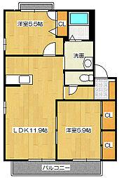 エトワールディアス[2階]の間取り
