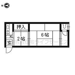 清和荘[S1右〜2号室]の間取り