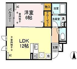 D-room新川6丁目[101号室]の間取り