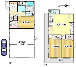 [一戸建] 埼玉県越谷市蒲生寿町 の賃貸【/】の間取り