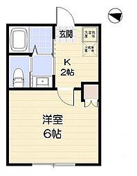 フォレストハウス習志野[B棟 201号室]の間取り