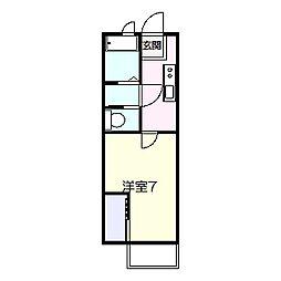 アパートメントKvolII[1階]の間取り