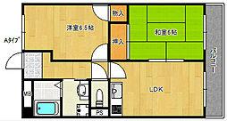 たきよしマンション[4階]の間取り