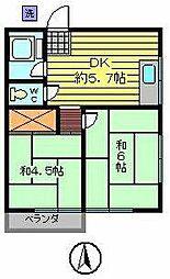 遠山ハイツ[2階]の間取り