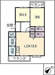 メゾン酒井 A棟[1階]の間取り