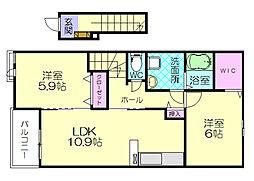 つつじガーデン須惠[2階]の間取り