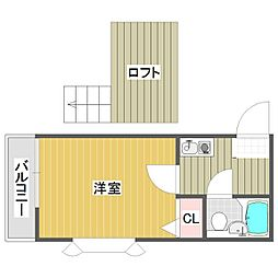 埼玉県朝霞市根岸台3丁目の賃貸アパートの間取り