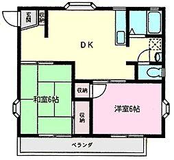 ライトコート土井[2階]の間取り