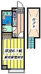 埼玉県さいたま市岩槻区東岩槻5丁目の賃貸アパートの間取り