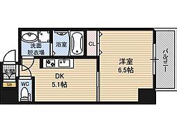 オクトレーベン新大阪[5階]の間取り