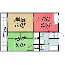 千葉県成田市三里塚光ケ丘の賃貸マンションの間取り