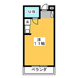 坂下ハイム[2階]の間取り
