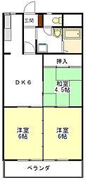 鷹跡マンション[1階]の間取り