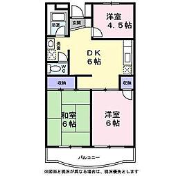 東京都日野市平山4丁目の賃貸マンションの間取り