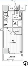 レジディア笹塚II[1301号室]の間取り