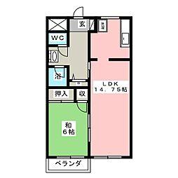 マンション甲田[3階]の間取り